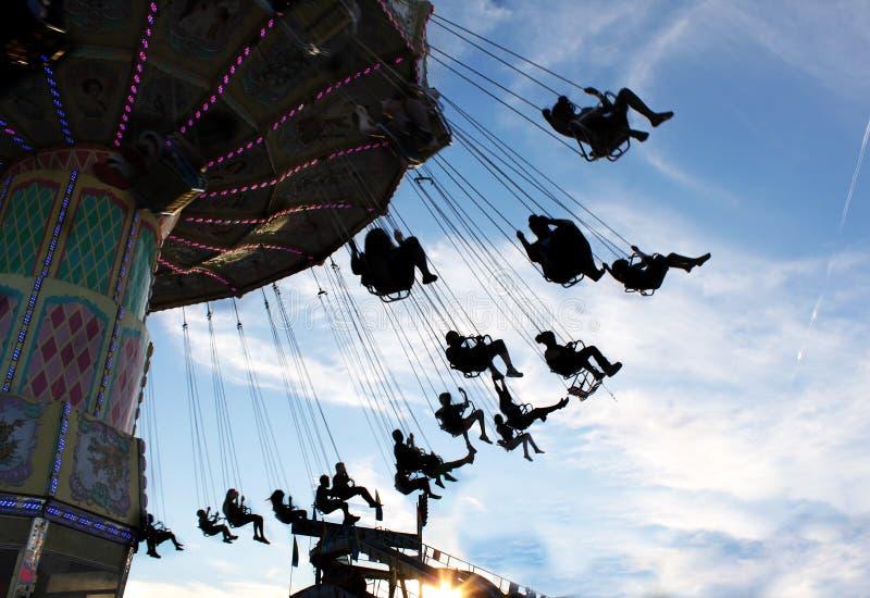 Paseo del oscilación del carnaval imagen de archivo libre de regalías