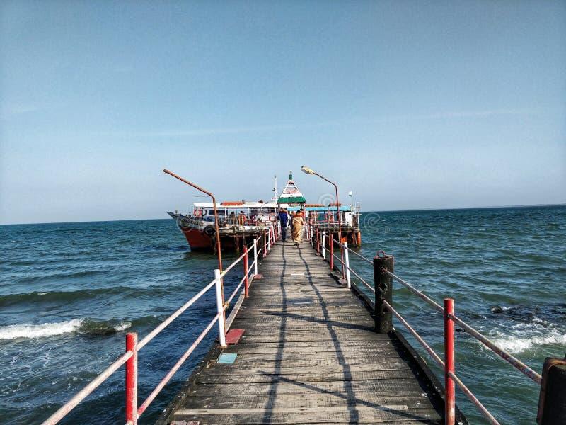 Paseo del transbordador en la bahía de Bengala imágenes de archivo libres de regalías