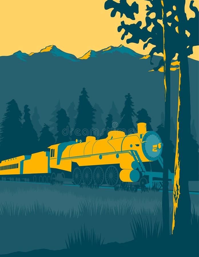 Paseo del tren stock de ilustración
