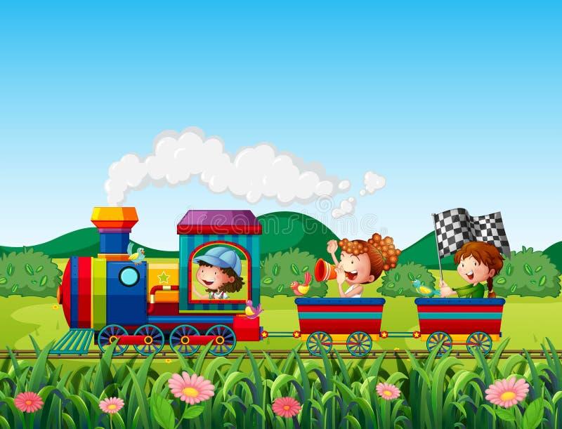 Paseo del tren libre illustration