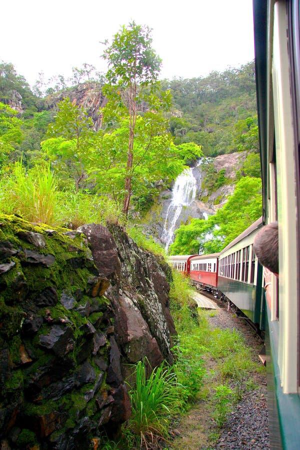 Paseo del tren a Kuranda Australia fotos de archivo libres de regalías
