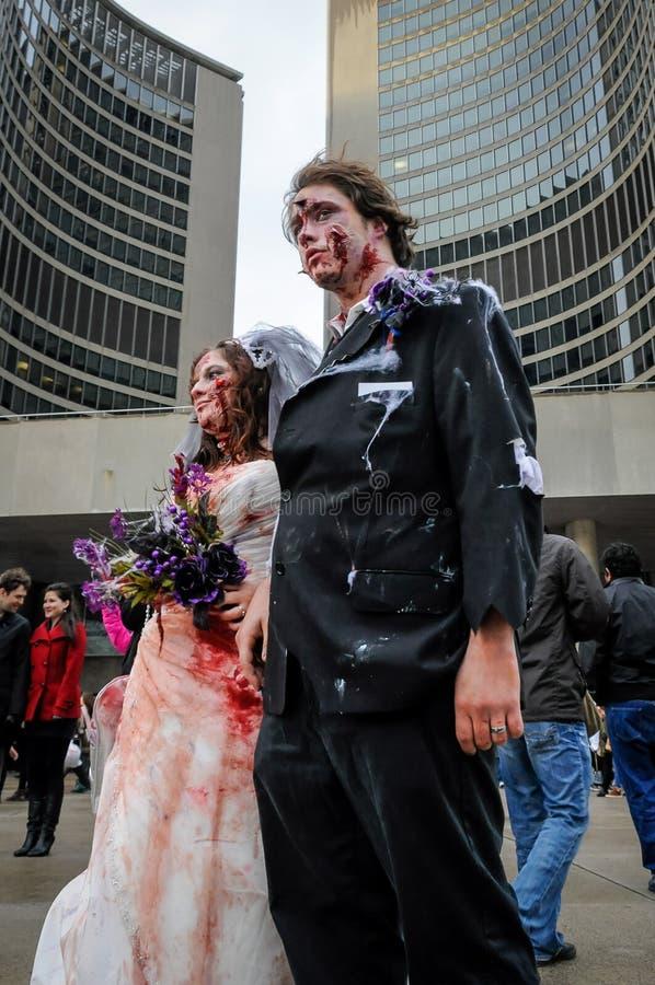 Paseo del zombi fotografía de archivo libre de regalías