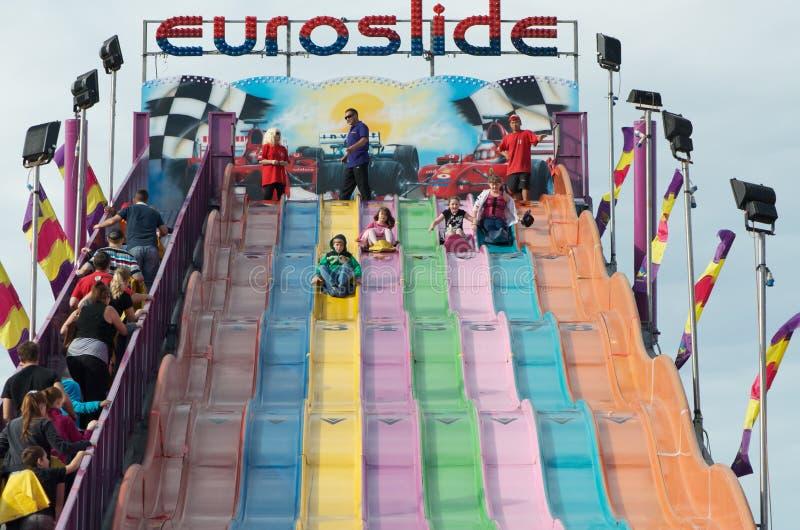 Paseo euro de la diapositiva foto de archivo