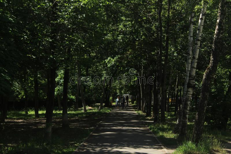 Paseo a Korolev Callejón de Kooperativnaja imagen de archivo