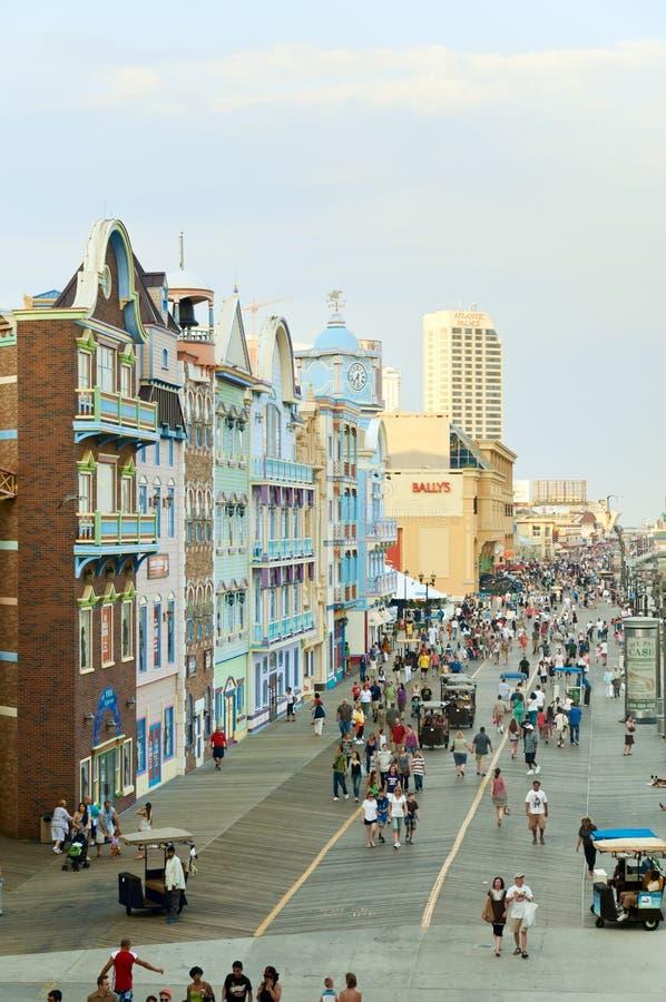 Paseo marítimo de Atlantic City fotos de archivo