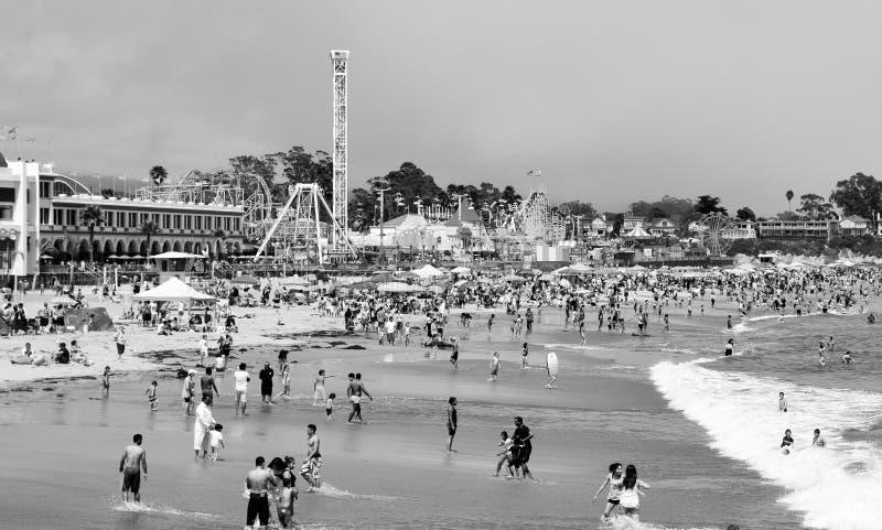 Paseo marítimo de la playa de Santa Cruz fotos de archivo libres de regalías
