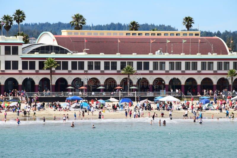 Paseo marítimo de la playa de Santa Cruz imágenes de archivo libres de regalías