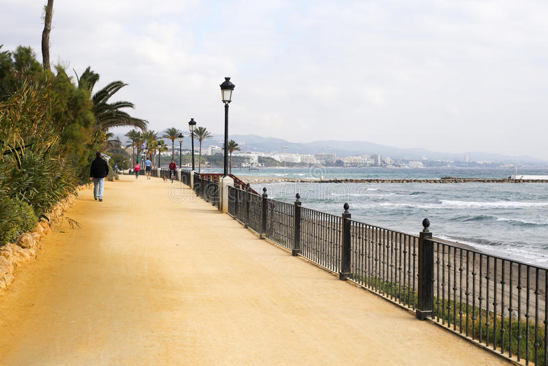 Paseo Maritimo Marbella royaltyfria bilder