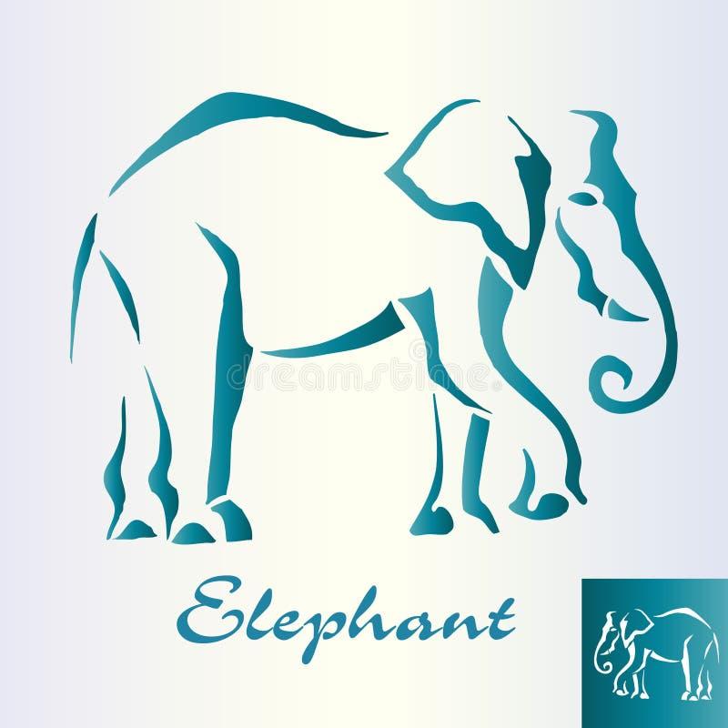 Paseos abstractos del elefante libre illustration