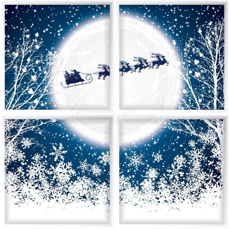 Paseos de Papá Noel en un trineo del reno libre illustration