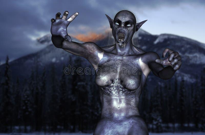 Paseos del monstruo del invierno fotografía de archivo
