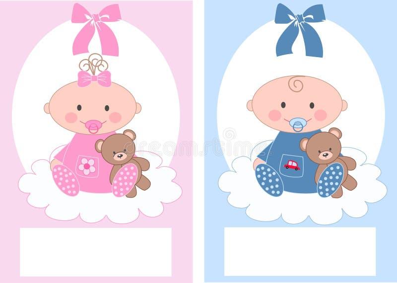 Pasgeboren baby royalty-vrije illustratie