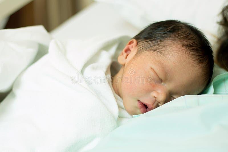 Pasgeboren baby royalty-vrije stock foto