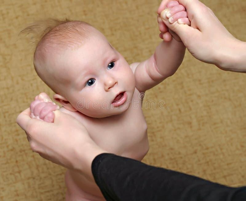 Pasgeboren babytribune royalty-vrije stock foto's