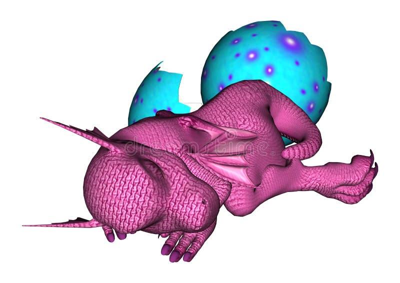 Pasgeboren Draak vector illustratie