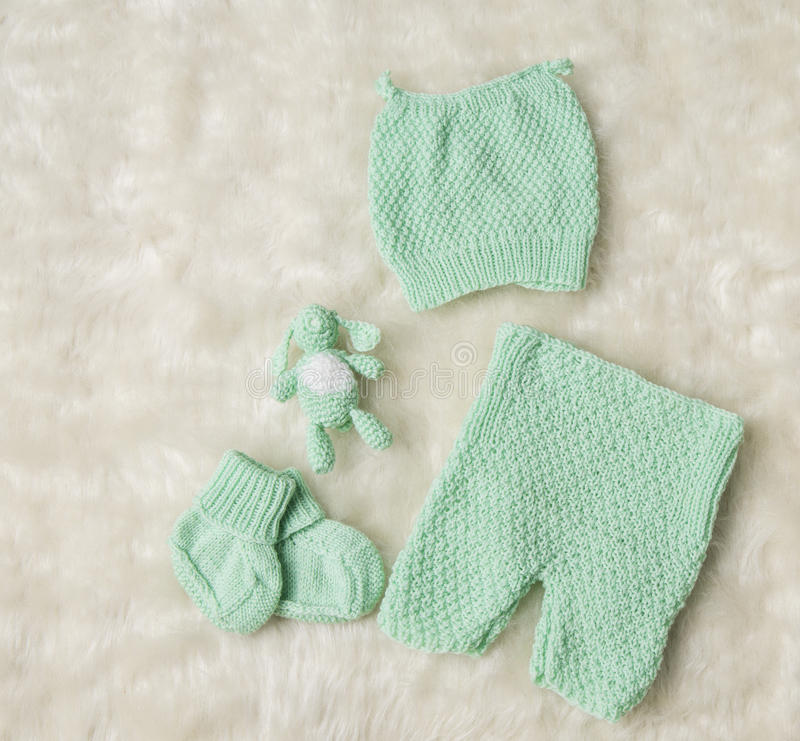 Pasgeboren Nieuwe Babykleding, - de geboren Broeken van de Sokkenbuiten van de Jonge geitjeshoed royalty-vrije stock fotografie