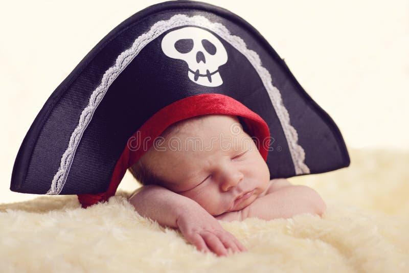 Pasgeboren piraat royalty-vrije stock afbeeldingen