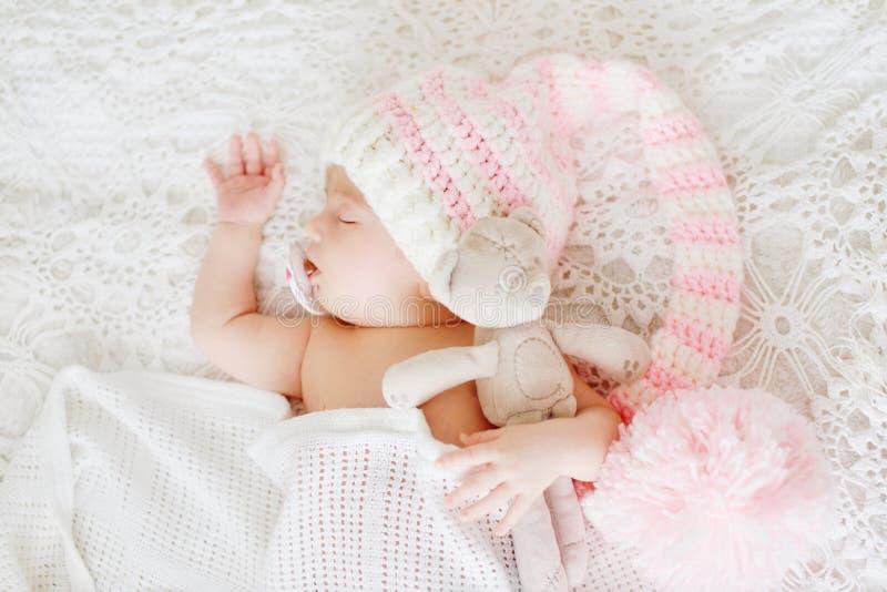 Pasgeboren slaapt royalty-vrije stock fotografie