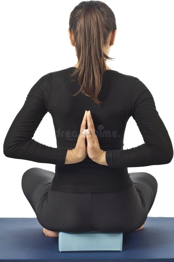 Pashchima Namaskarasana (pose renversée de prière) images libres de droits