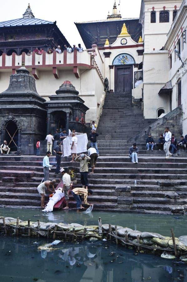 Pashupatinath寺庙 免版税图库摄影