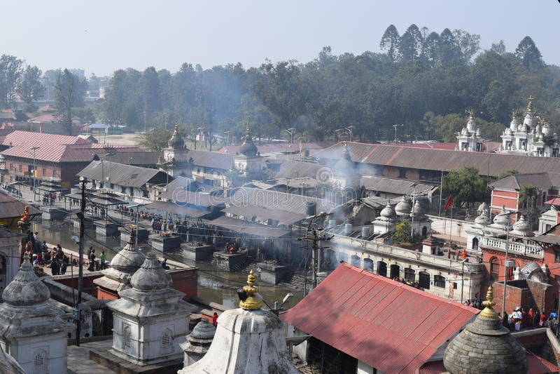 Pashupatinath寺庙 免版税库存图片