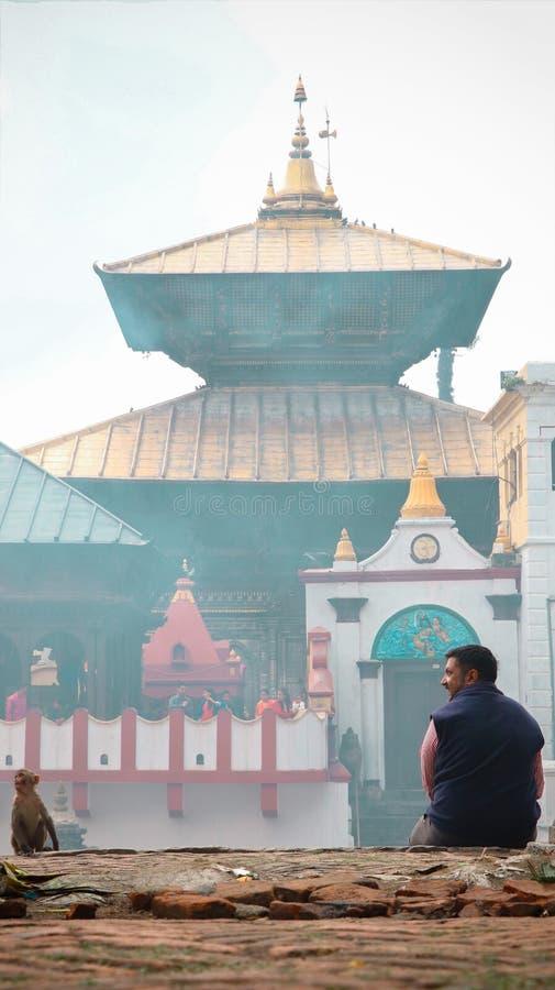 Pashupatinath świątynia obrazy royalty free