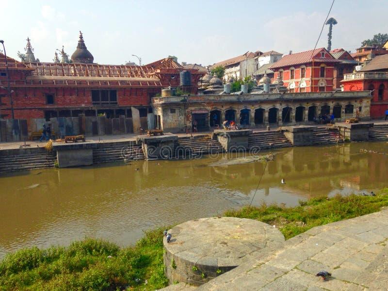 Pashupatinath area in Kathmandu royalty free stock photos