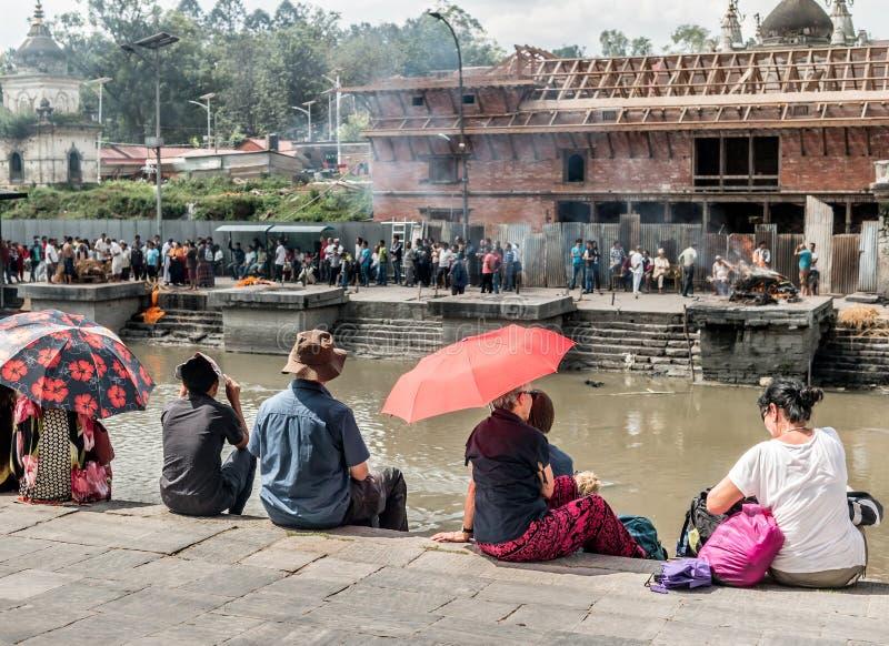 Pashupatinath CATMANDU nepal fotografia stock libera da diritti