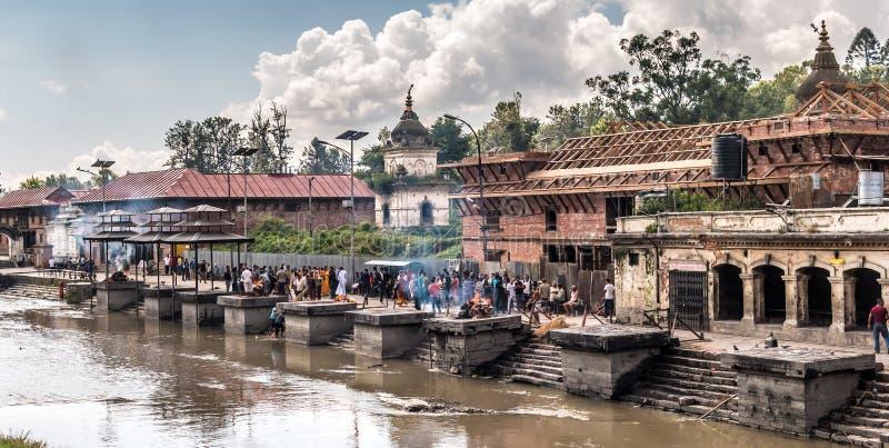 Pashupatinath CATMANDU nepal fotografia stock