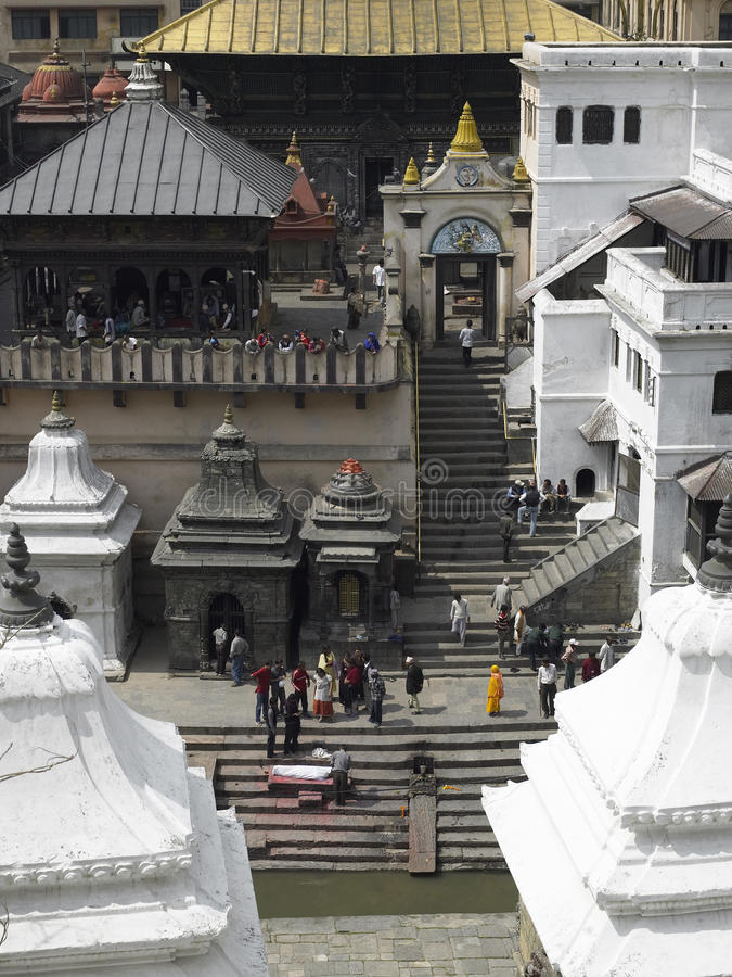 Pashupatinath Hindu Temple - Kathmandu - Nepal stock photos