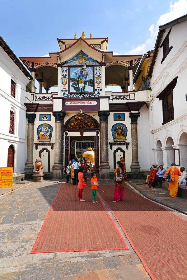 Pashupatinath Hindu temple. Nepal stock images