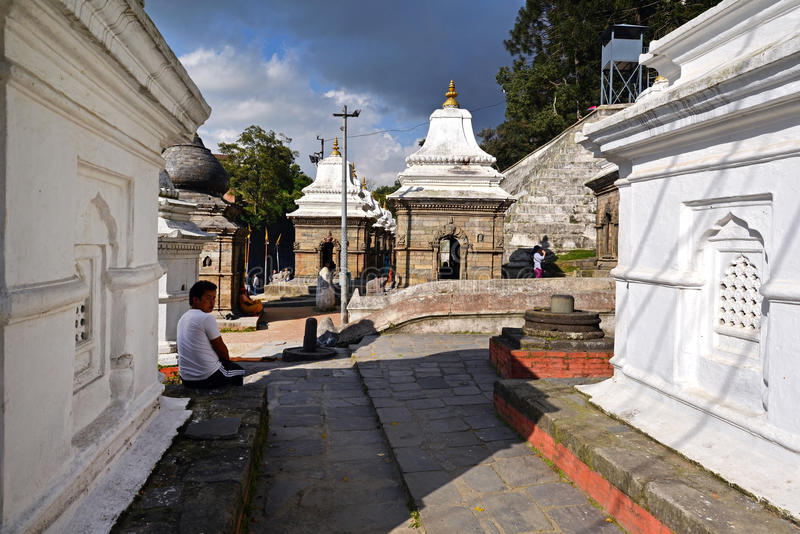 Pashupatinath Hindu temples. Nepal royalty free stock photography