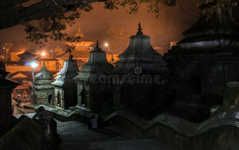 Pashupatinath tempel royaltyfri foto
