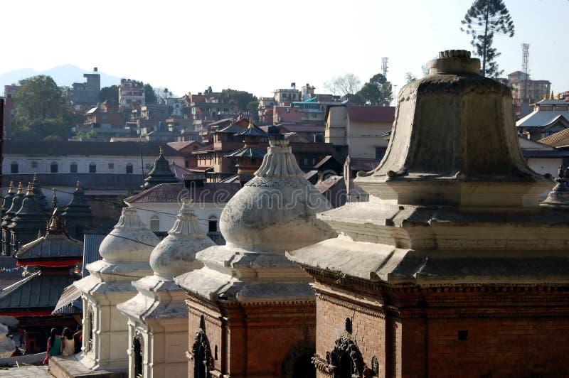 Pashupatinath temple complex. On Bagmati River in Kathmandu Valley, Nepal royalty free stock photo