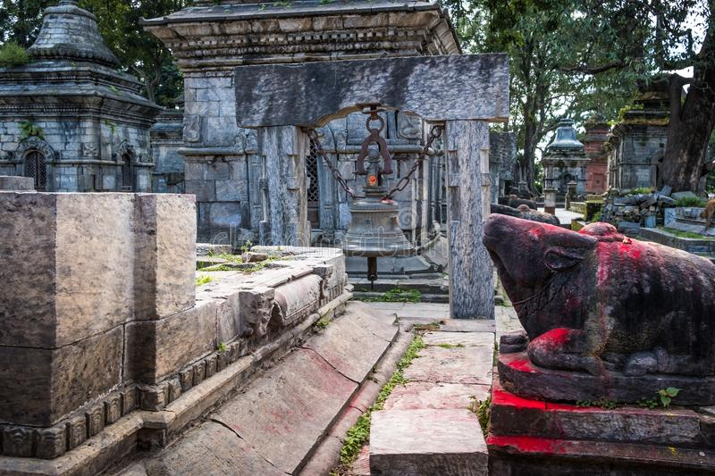 Pashupatinath temple complex in Kathmandu. Nepal royalty free stock images