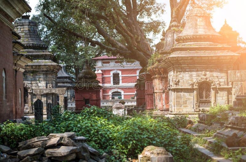 Pashupatinath temple complex in Kathmandu royalty free stock image