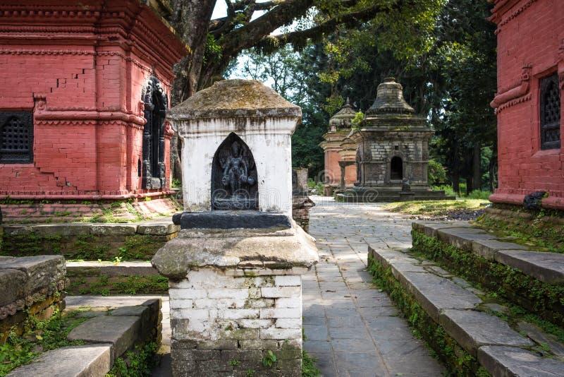 Pashupatinath temple complex in Kathmandu. Nepal stock image