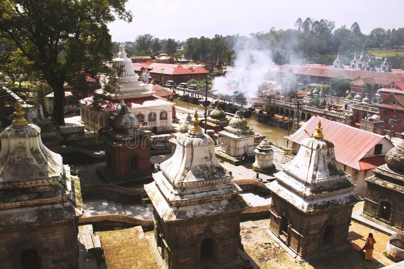 Pashupatinath Temple. Famous Hindu temple complex in Kathmandu. Nepal stock image