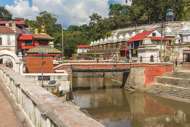 Pashupatinath Temple, famous sacred Hindu temple dedicated to Pa stock images