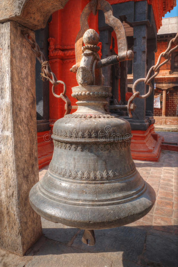 Pashupatinath Temple. Freely walk monkey. Votive temples and shrines in a row at Pashupatinath Temple, Kathmandu, Nepal stock photo