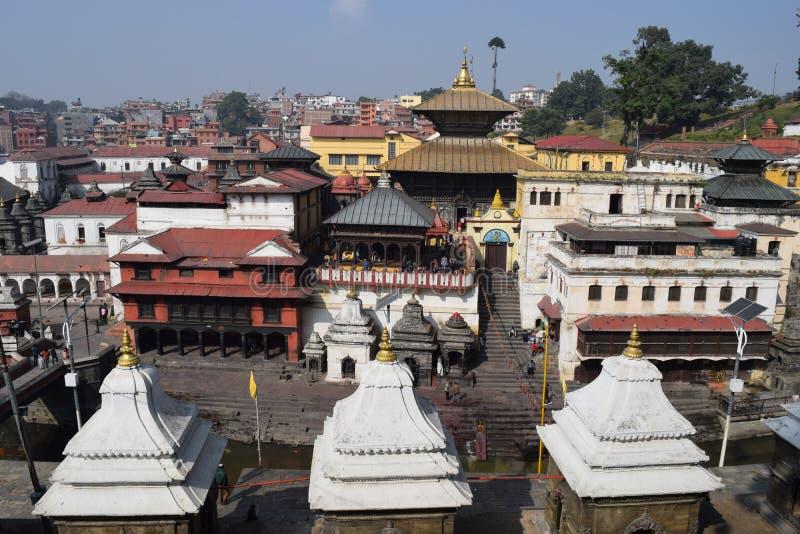 Pashupatinath temple. Hindu Pashupatinath temple in Kathmandu royalty free stock photo