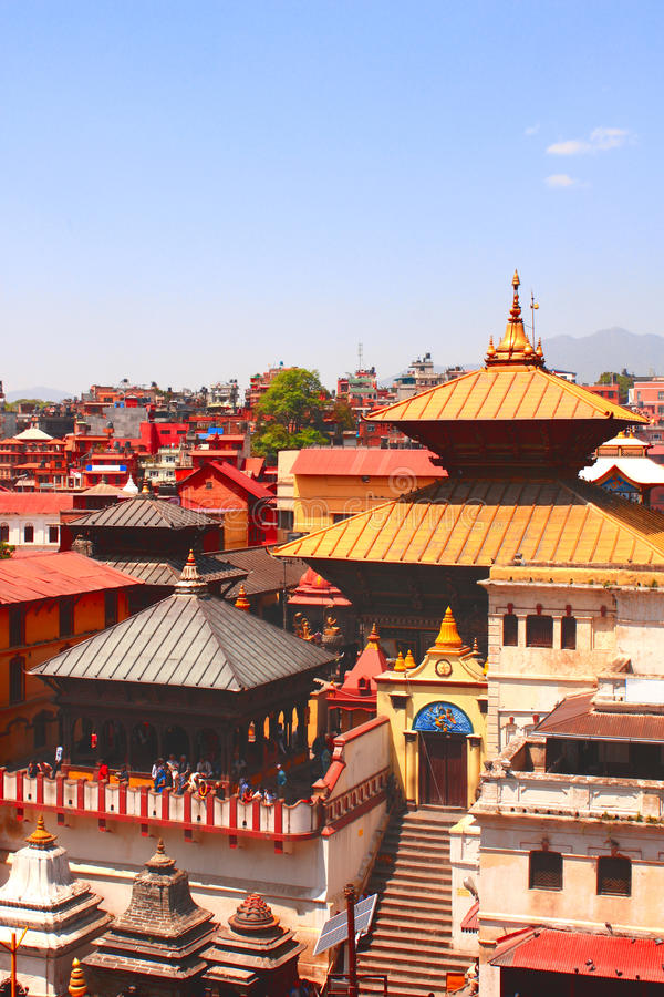Pashupatinath temple in Kathmandu, Nepal stock photos