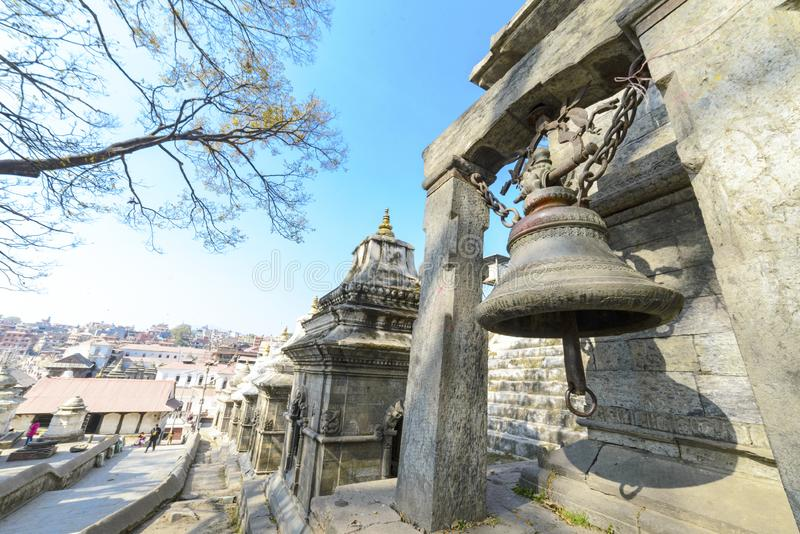 Pashupatinath temple in Kathmandu, Nepal royalty free stock images