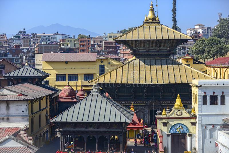 Pashupatinath Temple, Kathmandu, Nepal. stock photo