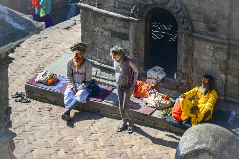 Pashupatinath Temple, Kathmandu, Nepal. royalty free stock photo