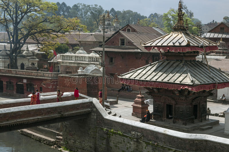 Pashupatinath Temple - Kathmandu - Nepal royalty free stock photography