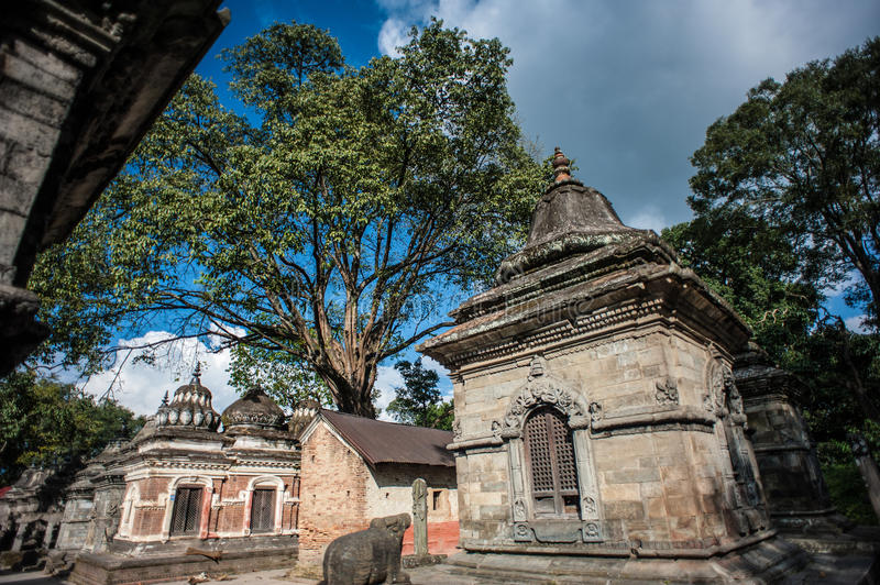 Pashupatinath Temple, Kathmandu, Nepal. Image of temple buildings at Unesco's 5th century World Heritage site of Pashupatinath Temple, Kathmandu, Nepal. This royalty free stock photography