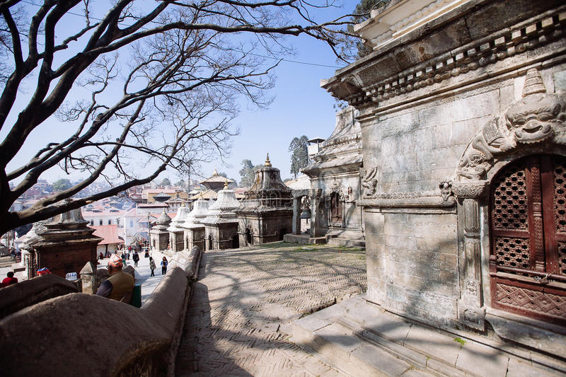 Pashupatinath Temple in Kathmandu, Nepal. Pashupatinath Temple located on the banks of the Bagmati River in the eastern part of Kathmandu, the capital of Nepal stock image