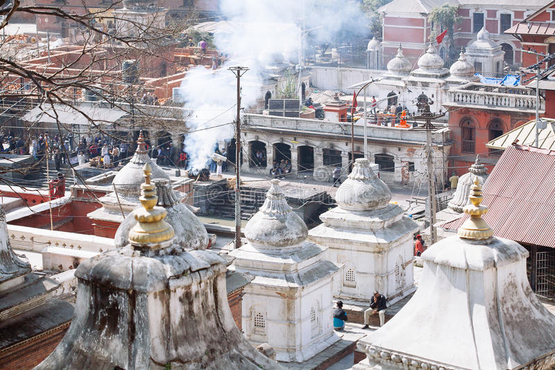 Pashupatinath Temple in Kathmandu, Nepal. Pashupatinath Temple located on the banks of the Bagmati River in the eastern part of Kathmandu, the capital of Nepal royalty free stock image