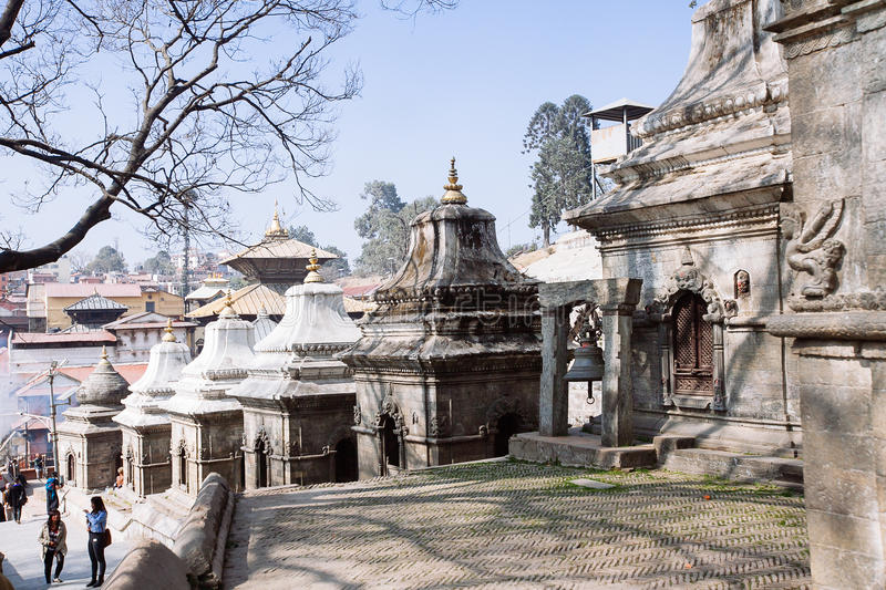 Pashupatinath Temple in Kathmandu, Nepal. Pashupatinath Temple located on the banks of the Bagmati River in the eastern part of Kathmandu, the capital of Nepal stock photos